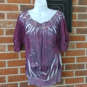 Guess Sheer Blouse Size M